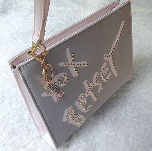 NWOT Betsey Johnson Gray Wrislet Clutch Bag